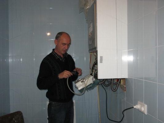 ремонт навесного котла